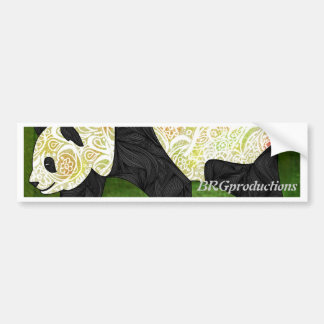 Panda Car Bumper Sticker