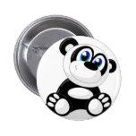 Panda Cartoon Pinback Button