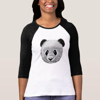 Panda Cartoon Sketch Ladies T-Shirt