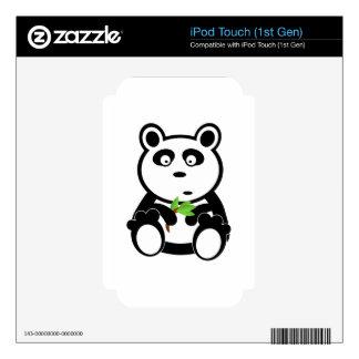 Panda cartoon skin for the iPod touch