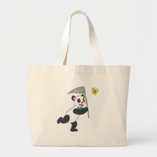 Panda Chasing Butterfly Tote Bag