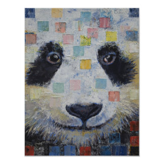 Panda Checkers Card