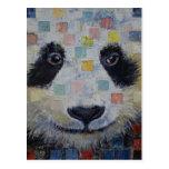 Panda Checkers Postcard