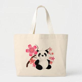 Panda Cherry Blossoms Tote Bag