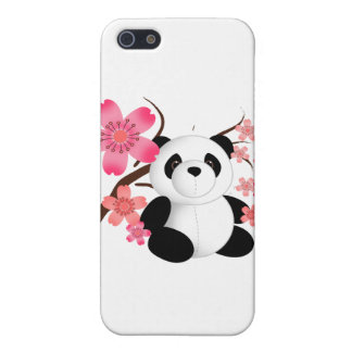 Panda Cherry Blossoms Case For iPhone SE/5/5s