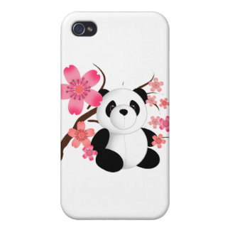Panda Cherry Blossoms Cases For iPhone 4
