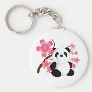 Panda Cherry Blossoms Keychains