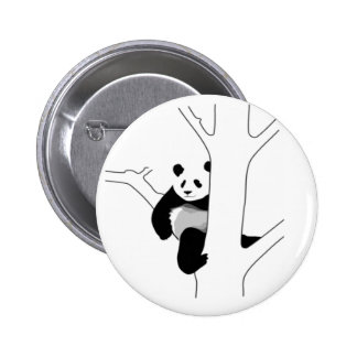 Panda Chillin Pinback Buttons