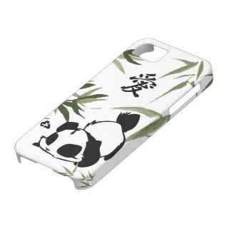 "Panda china linda del ""amor"" con los bambúes iPhone 5 carcasa"