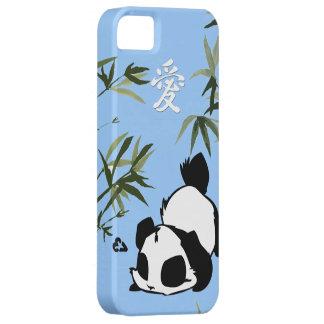 """Panda china linda del """"amor"""" con los bambúes iPhone 5 fundas"""
