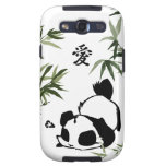 """Panda china linda del """"amor"""" con los bambúes samsung galaxy s3 fundas"""