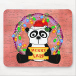 Panda Christmas Mousepad