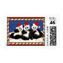 PANDA CHRISTMAS stamp