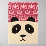panda & circle pattern poster