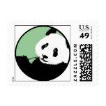 panda. círculo verdemar timbre postal