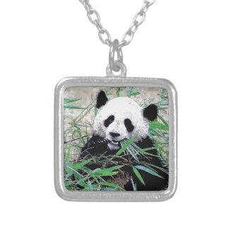 Panda Collar Plateado