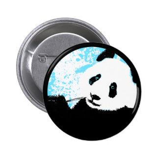 panda. color customizable circle. button