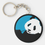 panda. color customizable circle. keychain