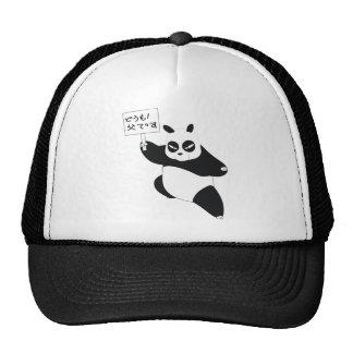 Panda con cartel gorra