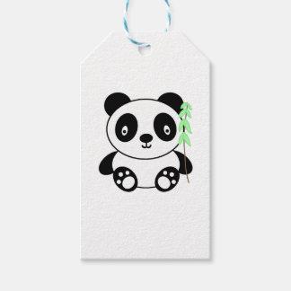 Panda con el bambú etiquetas para regalos
