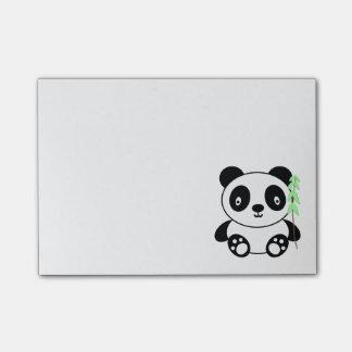 Panda con el bambú nota post-it®