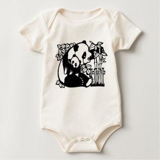 Panda con el bebé body para bebé