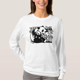 Panda con el cachorro playera