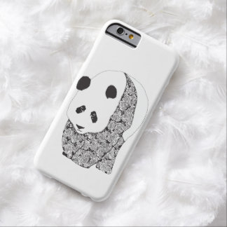 Panda con el ejemplo del tatuaje de los rosas funda para iPhone 6 barely there
