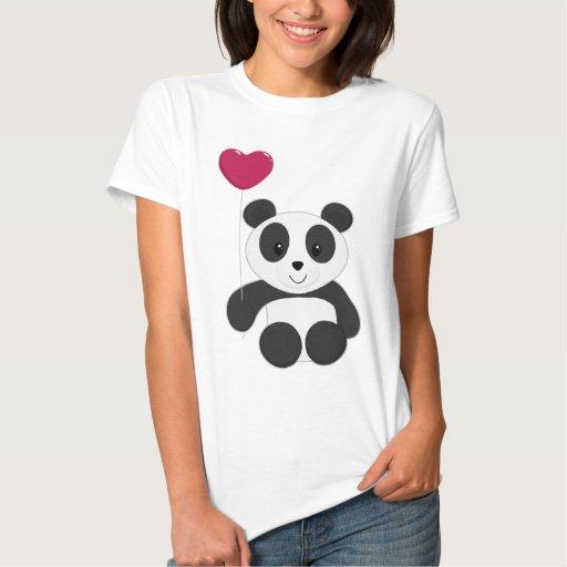 Panda con el globo playeras