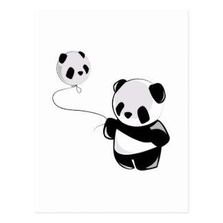 Panda con el globo tarjetas postales
