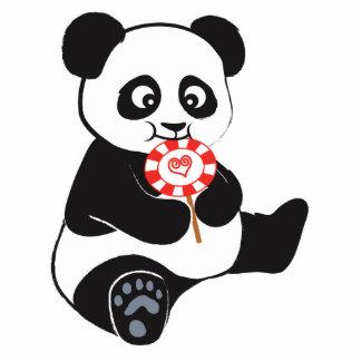 Panda con el lollipop esculturas fotograficas