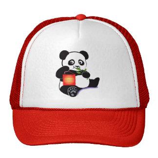 Panda con la linterna gorra