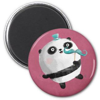Panda con los bigotes imán para frigorifico