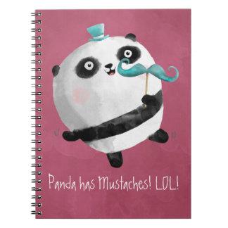 Panda con los bigotes libros de apuntes