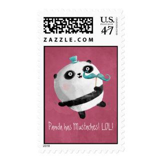 Panda con los bigotes sellos