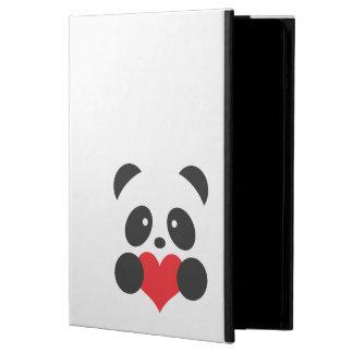 Panda con un caso del iPad del corazón