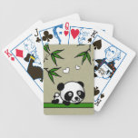 Panda confiada baraja cartas de poker