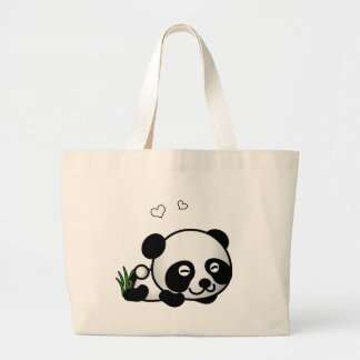 Panda confiada bolsas