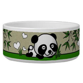 Panda confiada bol para perro