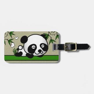 Panda confiada etiqueta para equipaje