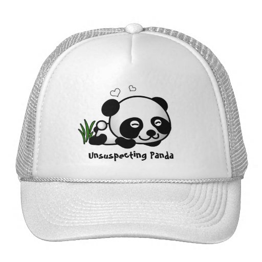 Panda confiada gorro