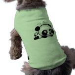 Panda confiada playera sin mangas para perro