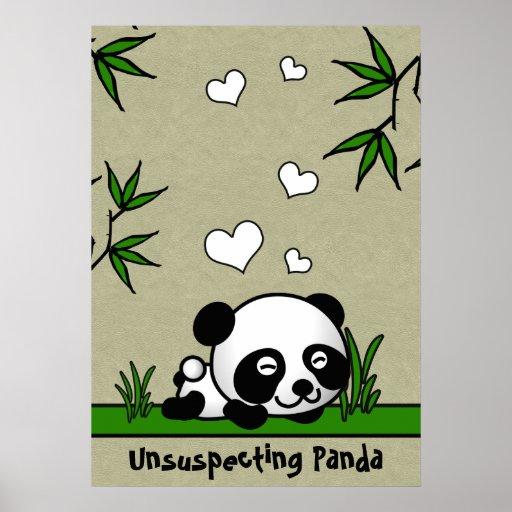 Panda confiada poster