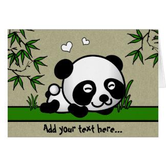 Panda confiada tarjeta de felicitación