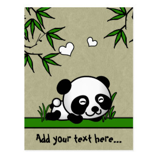 Panda confiada postal