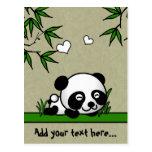 Panda confiada tarjetas postales