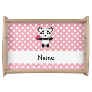 Panda conocida personalizada con los lunares de la bandeja