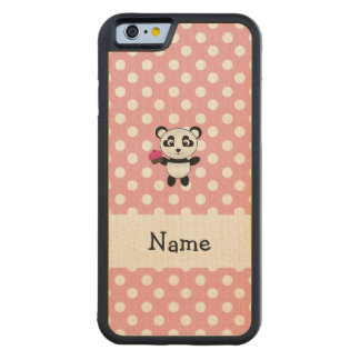 Panda conocida personalizada con los lunares de la funda de iPhone 6 bumper arce