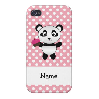 Panda conocida personalizada con los lunares de la iPhone 4/4S carcasas