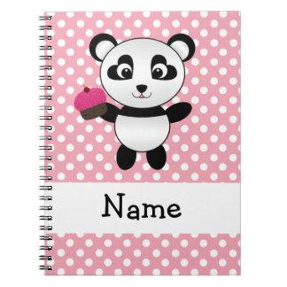 Panda conocida personalizada con los lunares de la libro de apuntes con espiral
